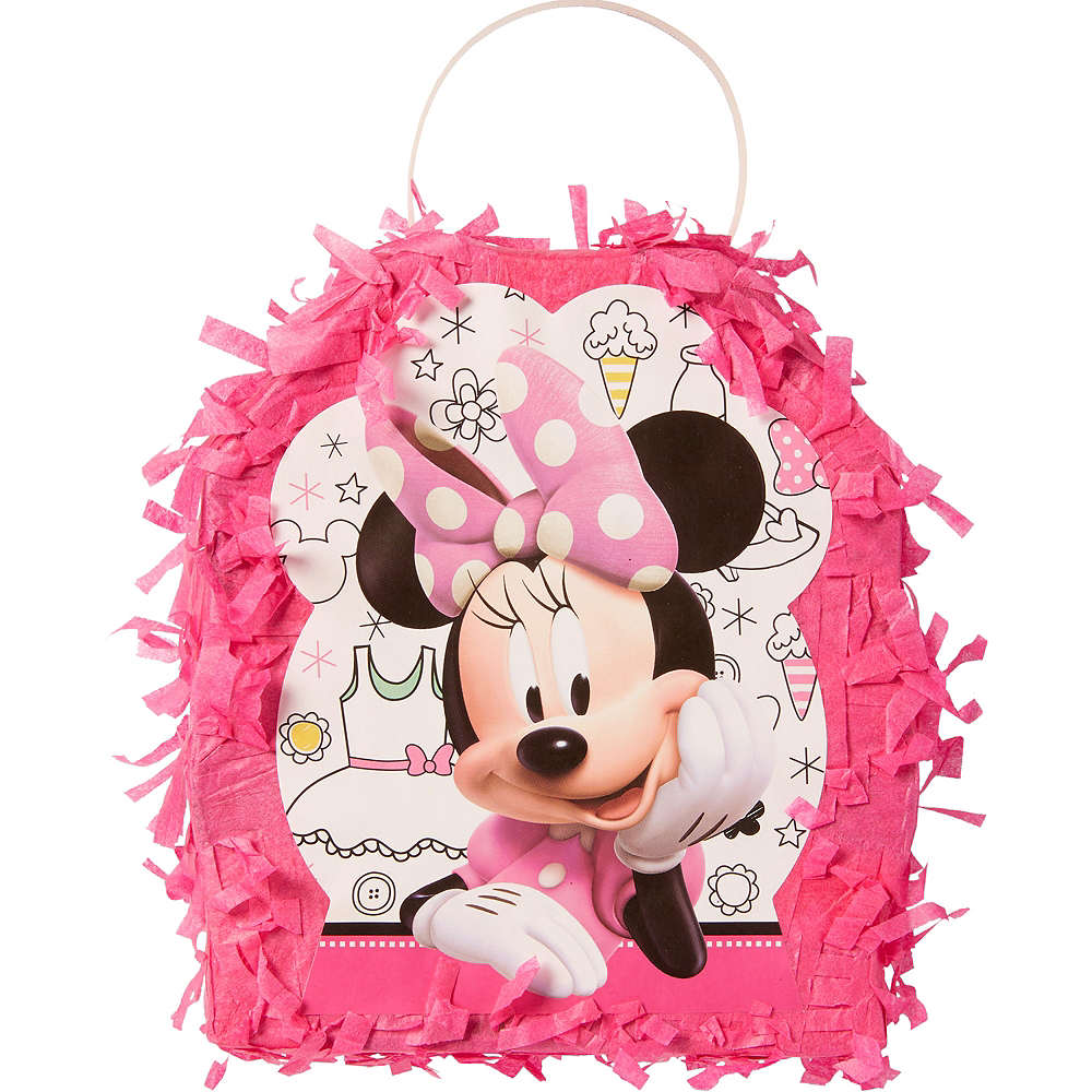 Minnie Mouse Pinata Favor Container Image #1