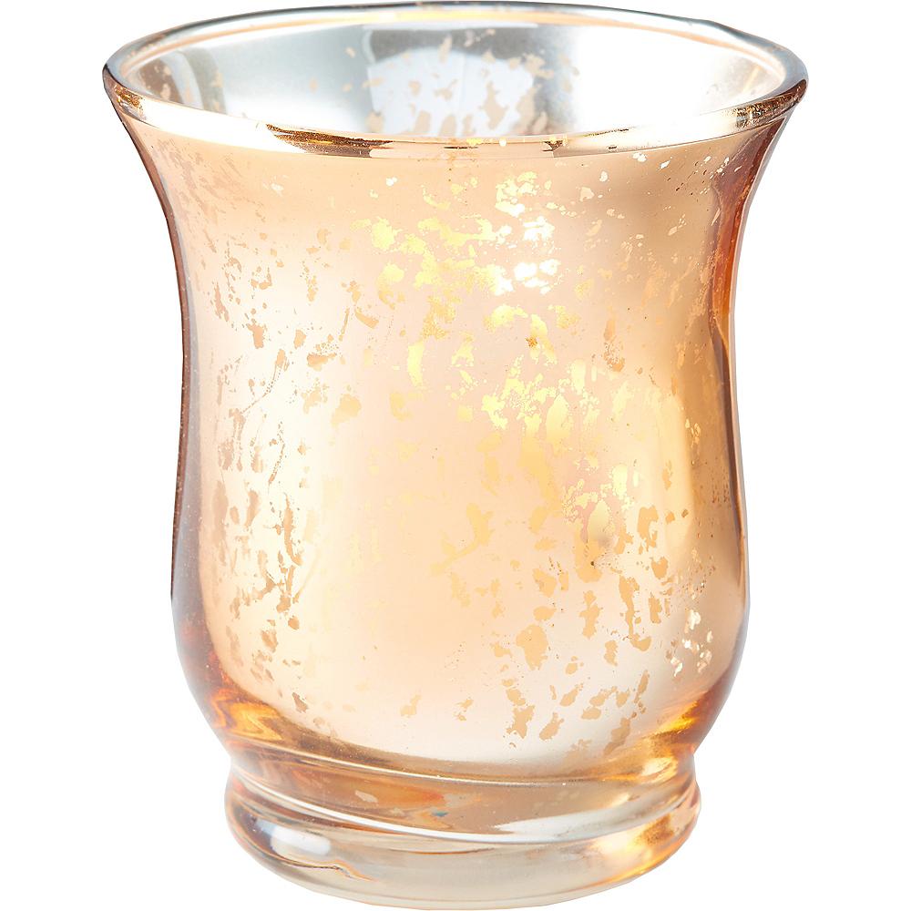 Rose Gold Hurricane Mercury Glass Votive Candle Holders 6ct Image #2