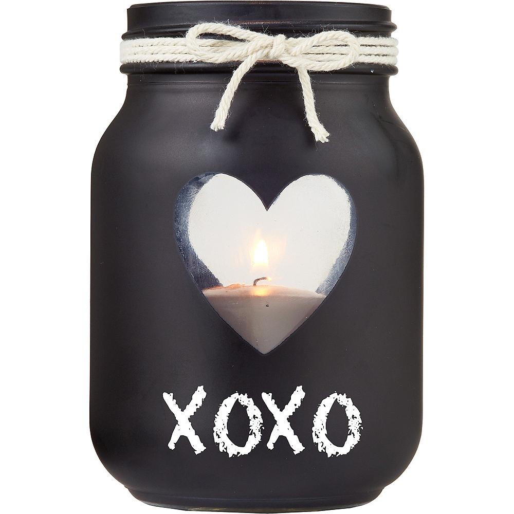Mason Jar Chalkboard Votive Candle Holders 6ct Image #2