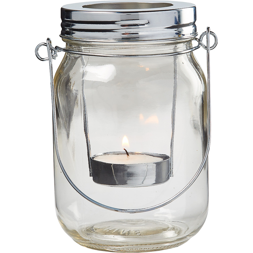 b10cb5be42 ... Mason Jar Lantern Tealight Candle Holders 6ct Image #2