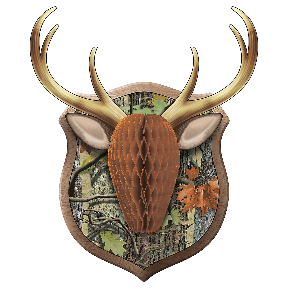 Hunting Camo Antler Honeycomb Wall Decoration Image #1