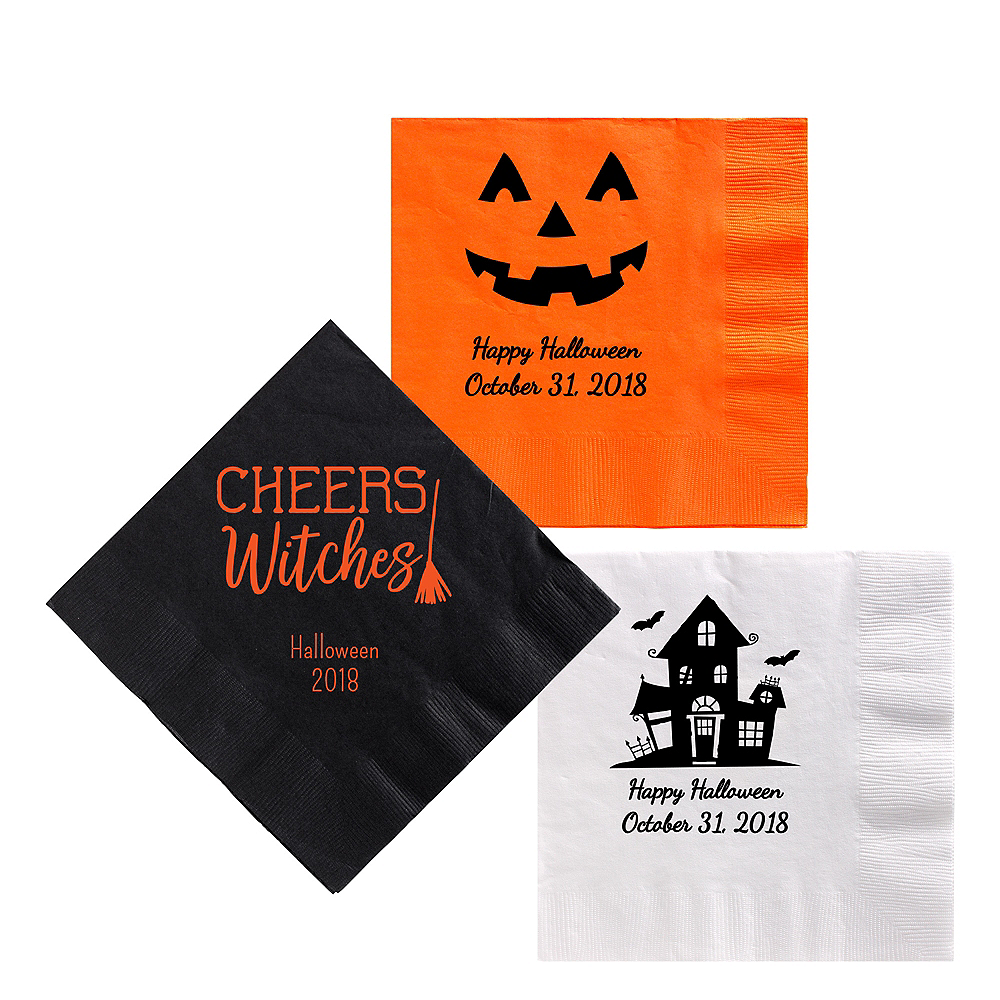 Personalized Halloween Lunch Napkins Image #1