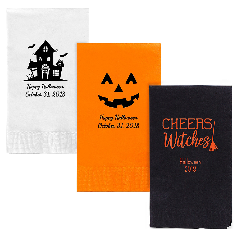 Personalized Halloween Guest Towels Image #1