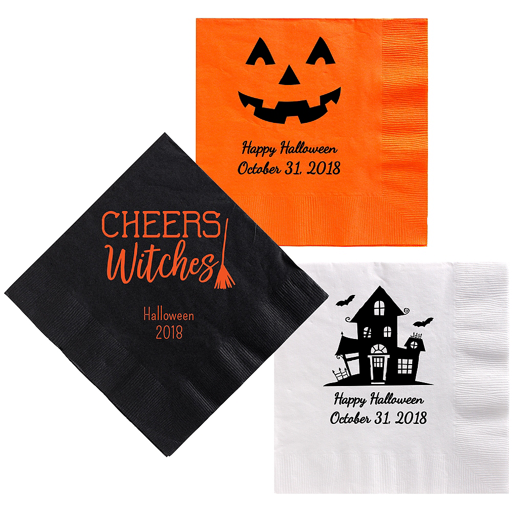 Personalized Halloween Dinner Napkins Image #1