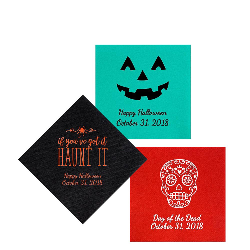 Personalized Halloween Premium Beverage Napkins Image #1