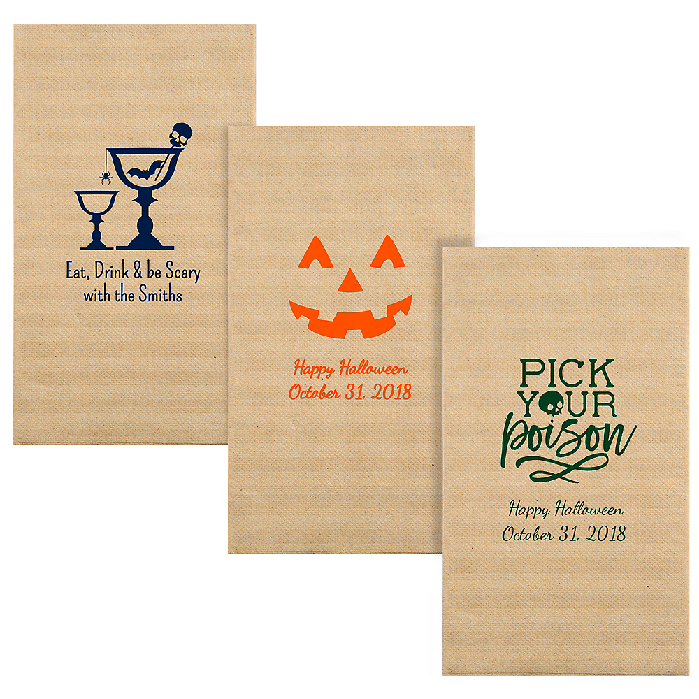 Personalized Halloween Eco-Friendly Guest Towels Image #1