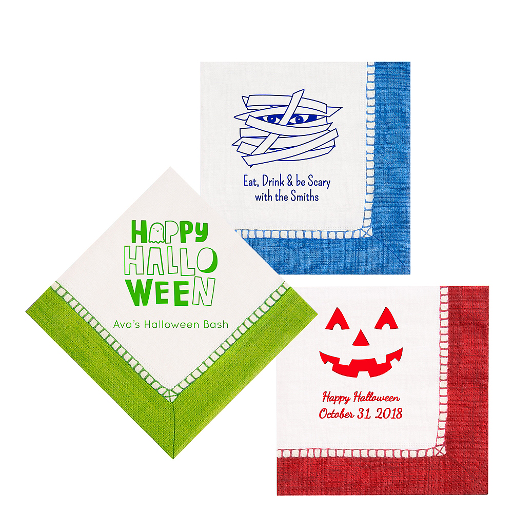 Personalized Halloween Bordered Lunch Napkins Image #1
