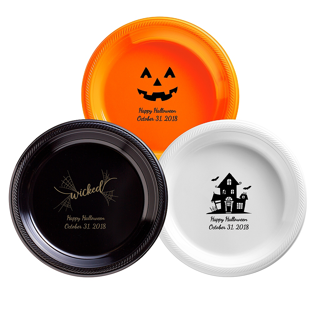 Personalized Halloween Plastic Dinner Plates Image #1
