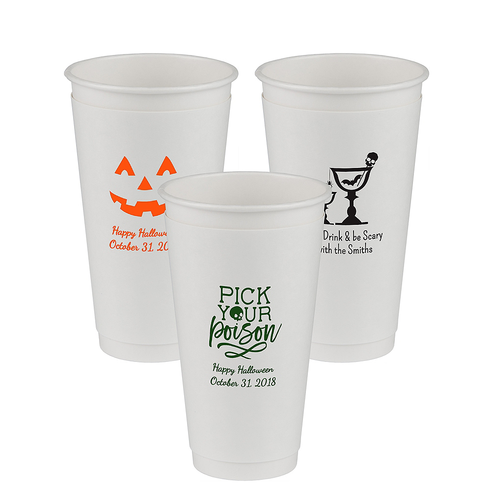Personalized Halloween Insulated Paper Cups 20oz Image #1