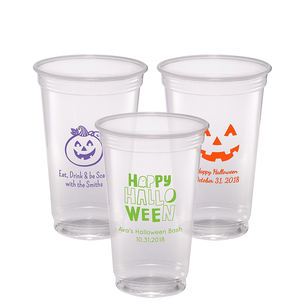 Personalized Halloween Plastic Party Cups 20oz Image #1