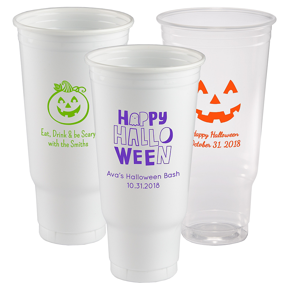 Personalized Halloween Plastic Party Cups 44oz Image #1