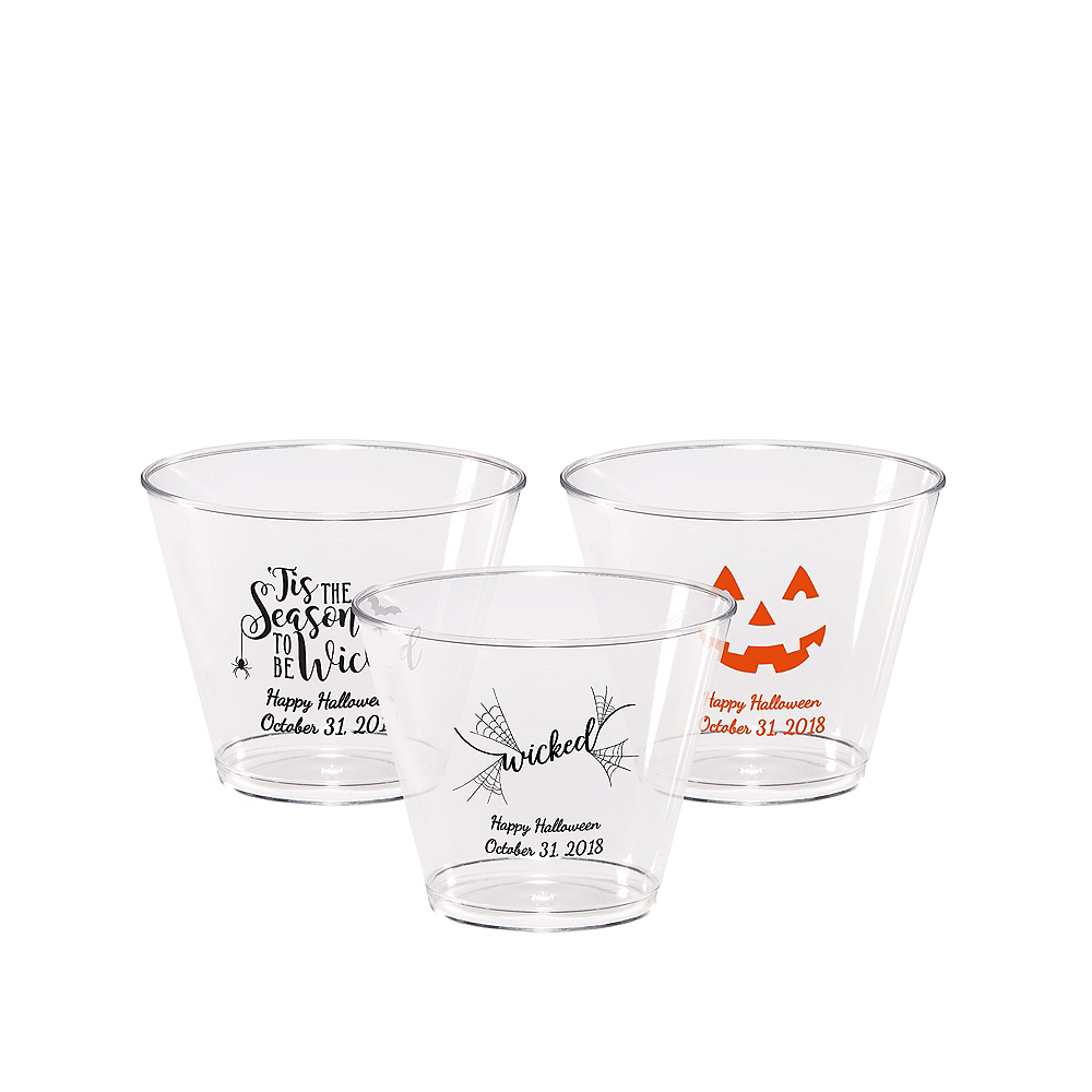 Personalized Halloween Hard Plastic Cups 9oz Image #1