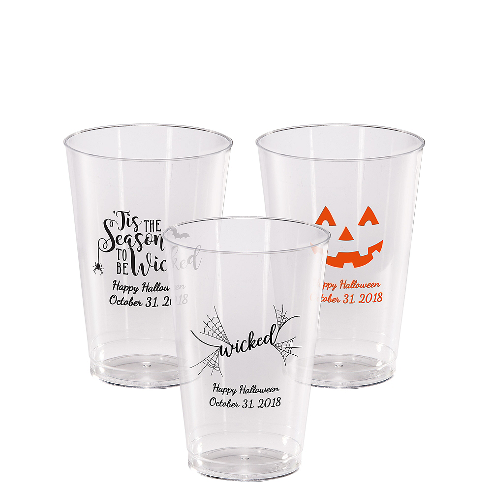 Personalized Halloween Hard Plastic Cups 14oz Image #1
