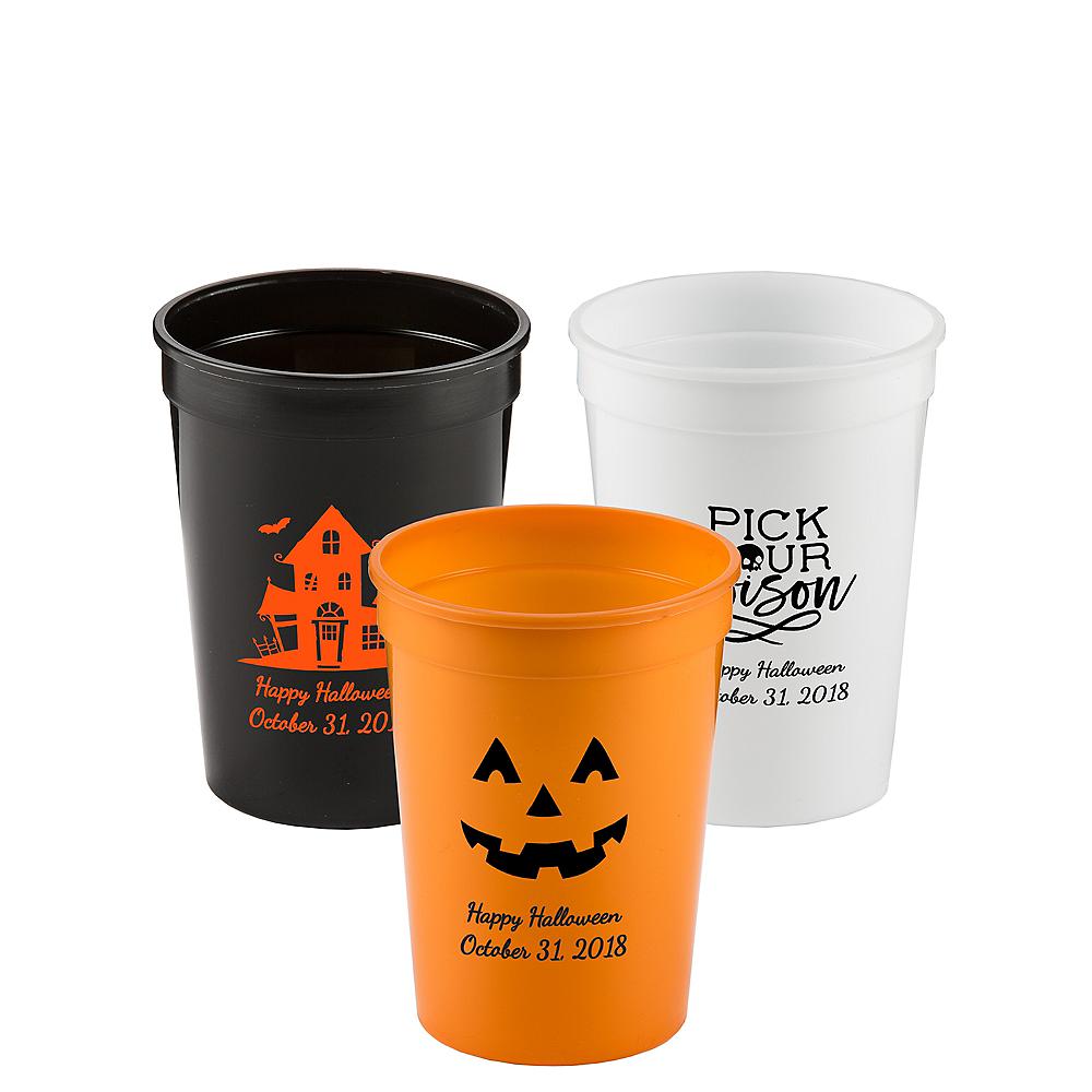 Personalized Halloween Plastic Stadium Cups 12oz Image #1