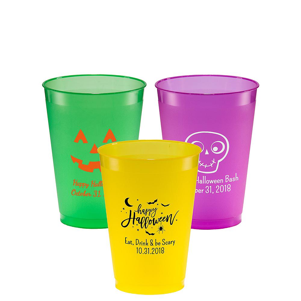 Personalized Halloween Plastic Shatterproof Cups 12oz Image #1