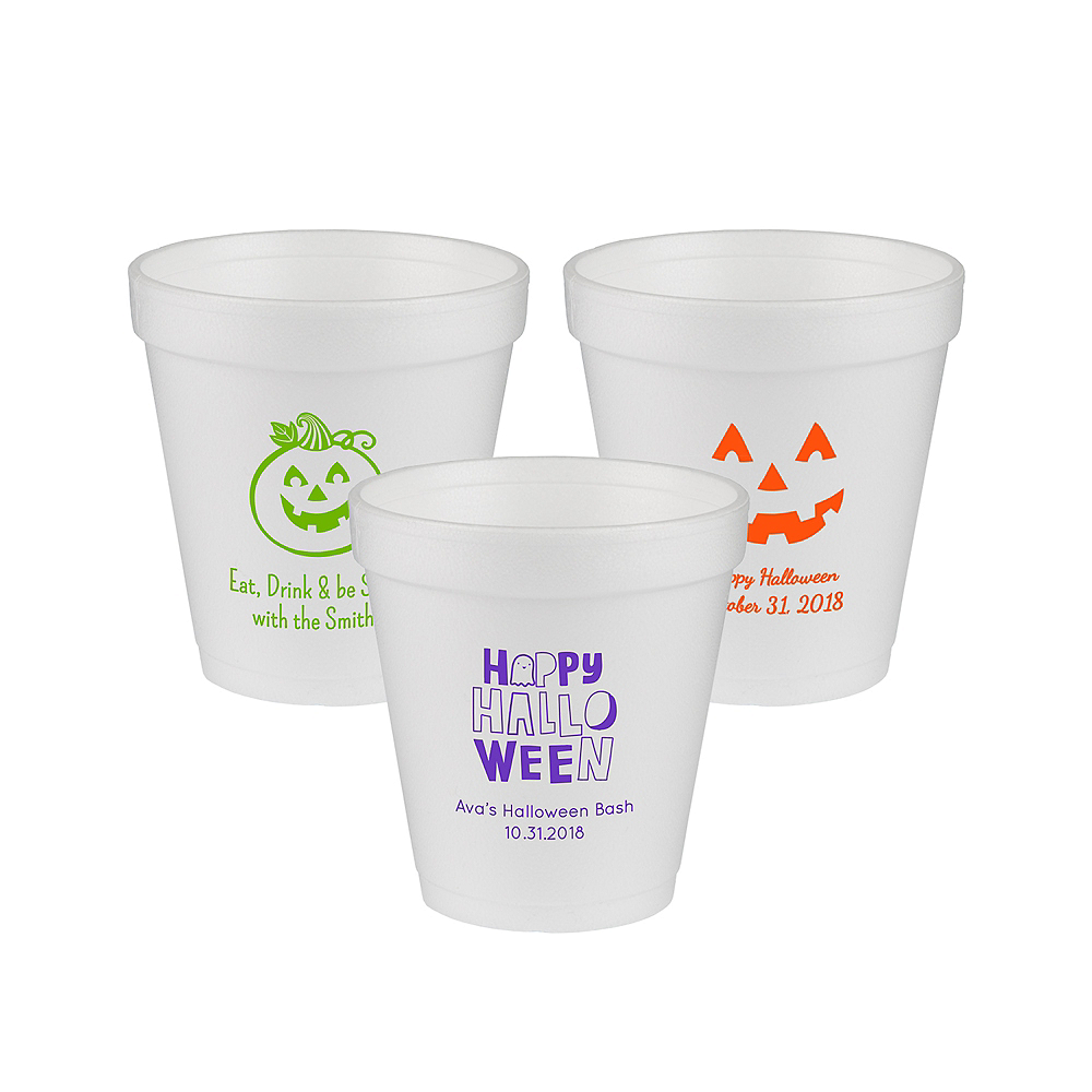 Personalized Halloween Foam Cups 10oz Image #1
