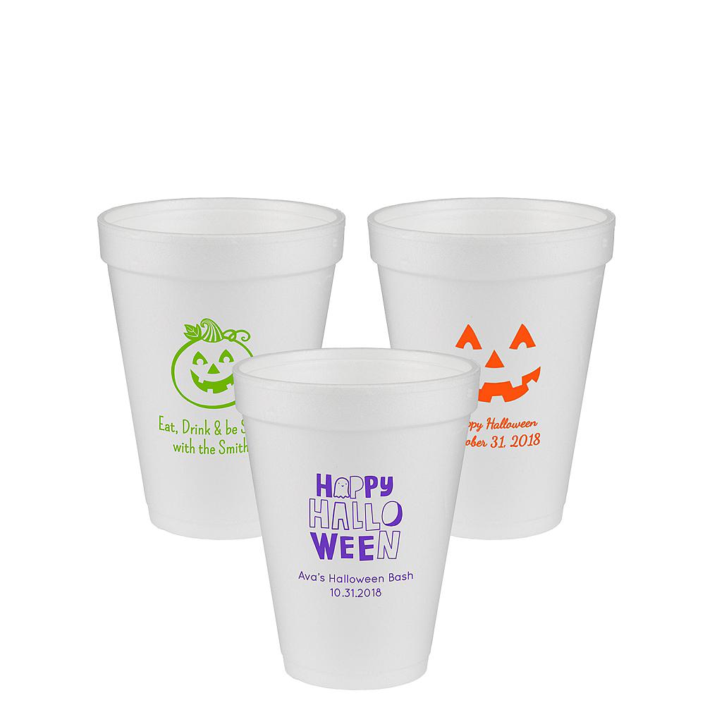Personalized Halloween Foam Cups 12oz Image #1