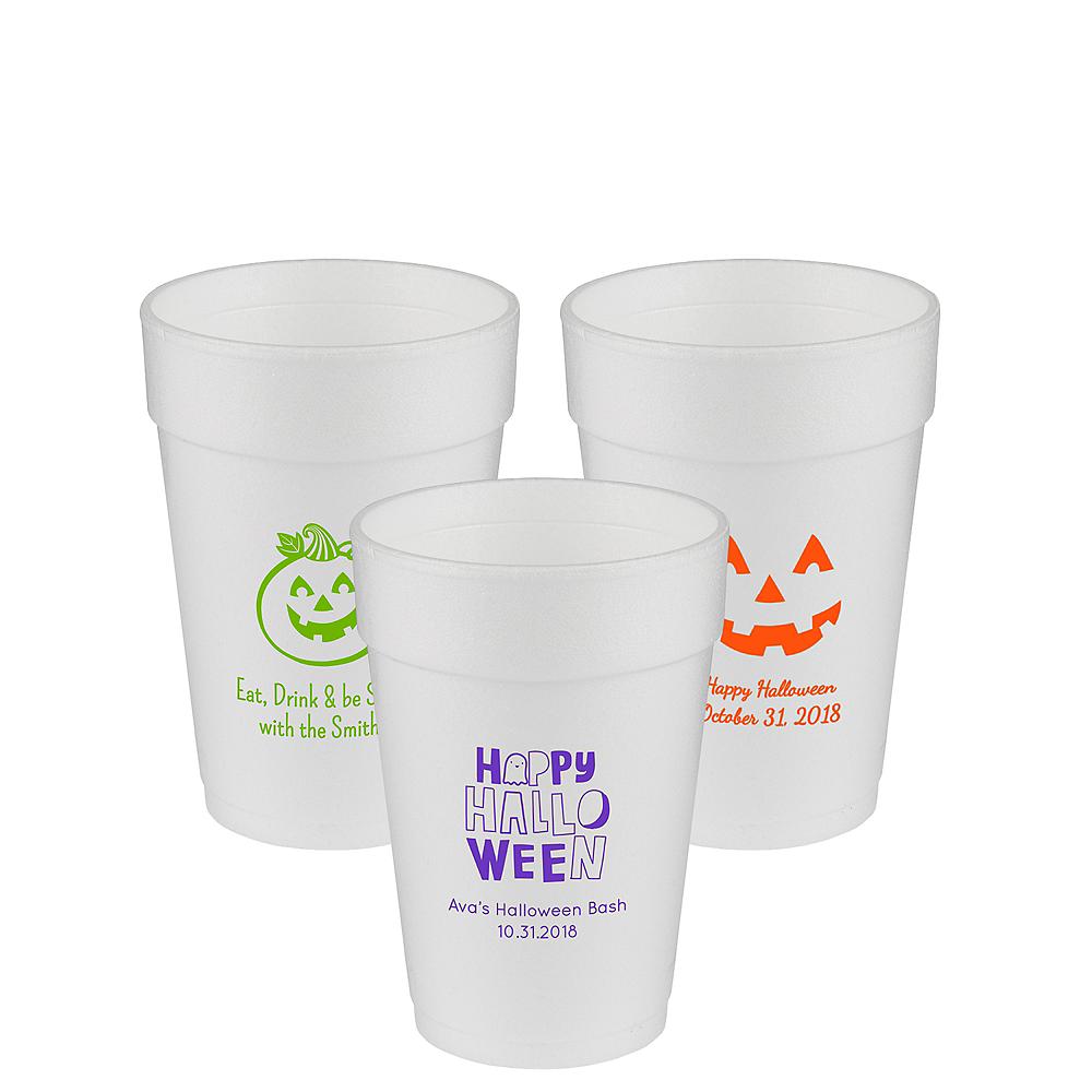Personalized Halloween Foam Cups 14oz Image #1