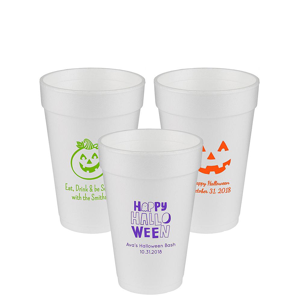 Personalized Halloween Foam Cups 16oz Image #1