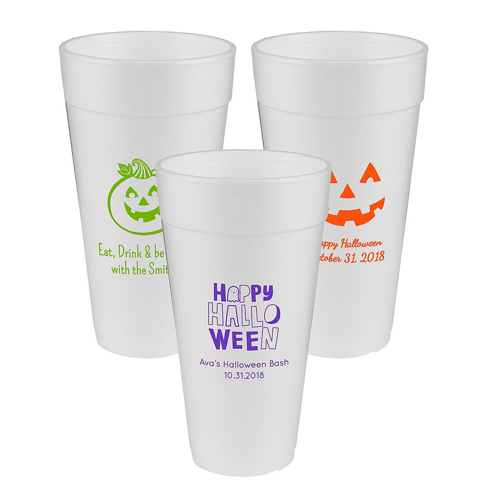 Personalized Halloween Foam Cups 24oz Image #1
