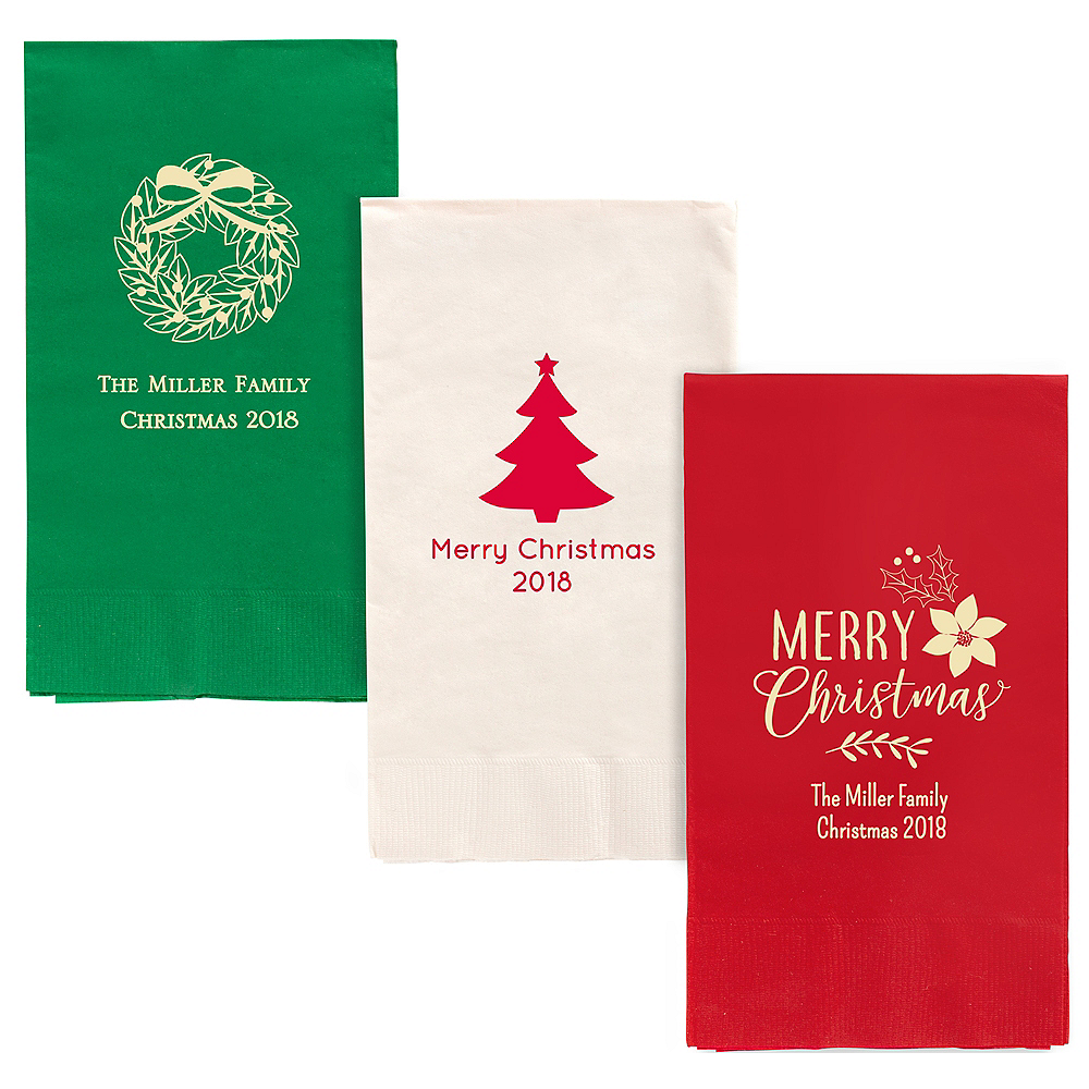 Personalized Christmas Guest Towels Image #1