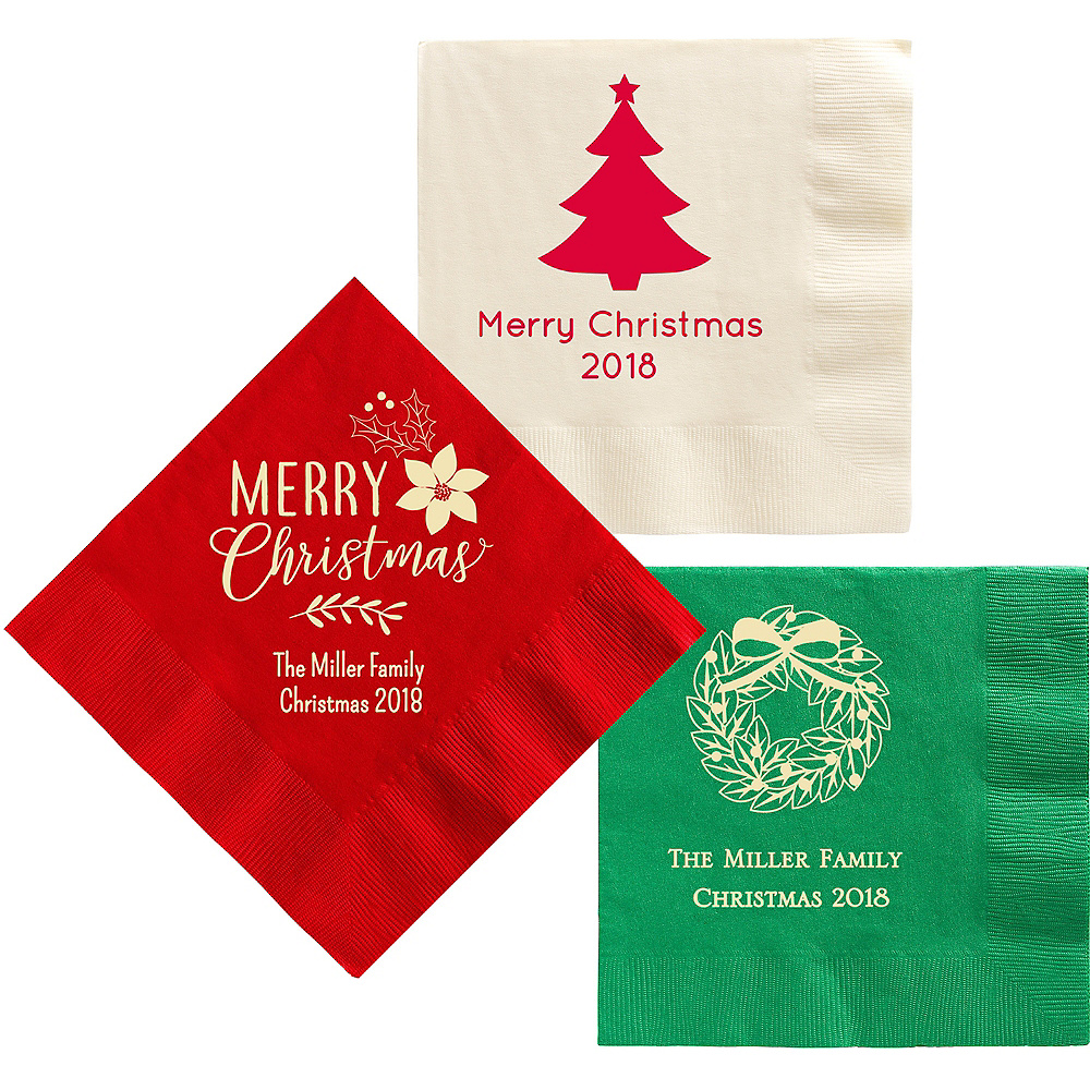 Personalized Christmas Dinner Napkins Image #1