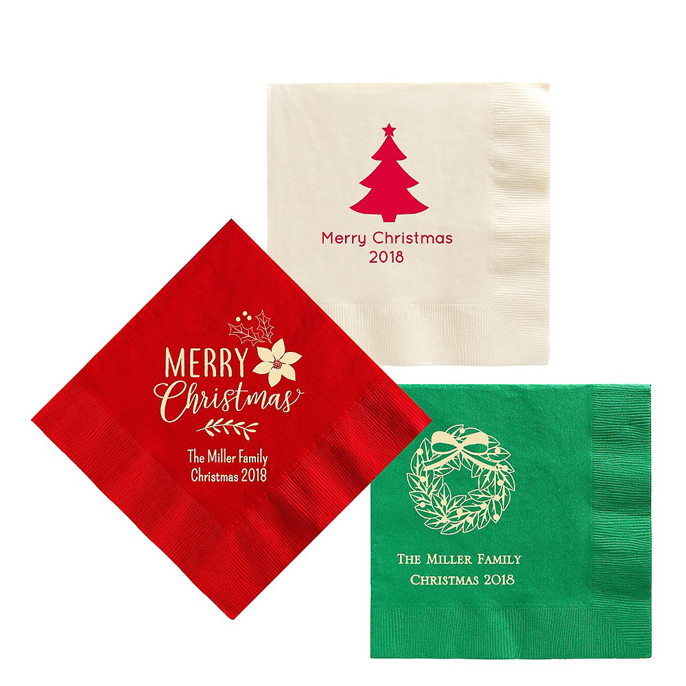 Personalized Christmas Lunch Napkins Image #1