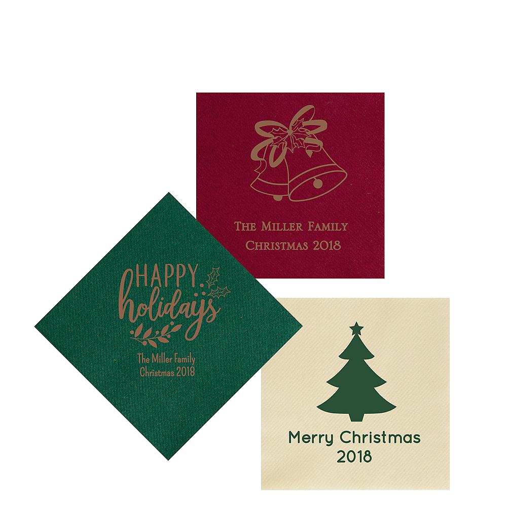 Personalized Christmas Premium Beverage Napkins Image #1