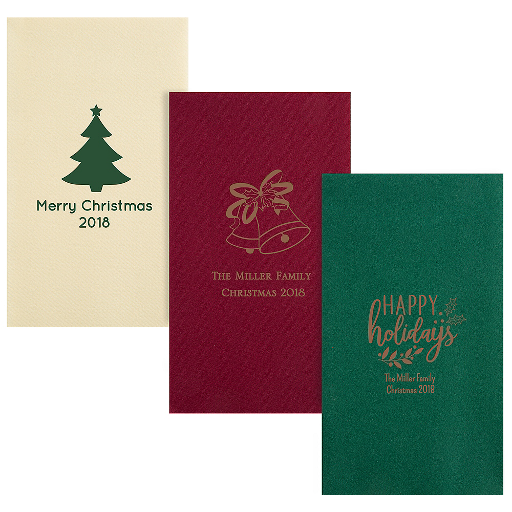 Personalized Christmas Premium Guest Towels Image #1