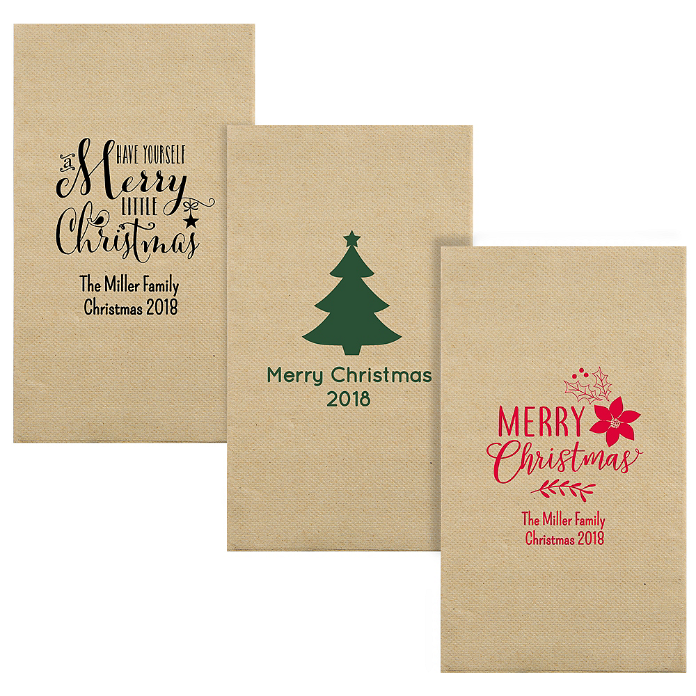 Personalized Christmas Eco-Friendly Guest Towels Image #1