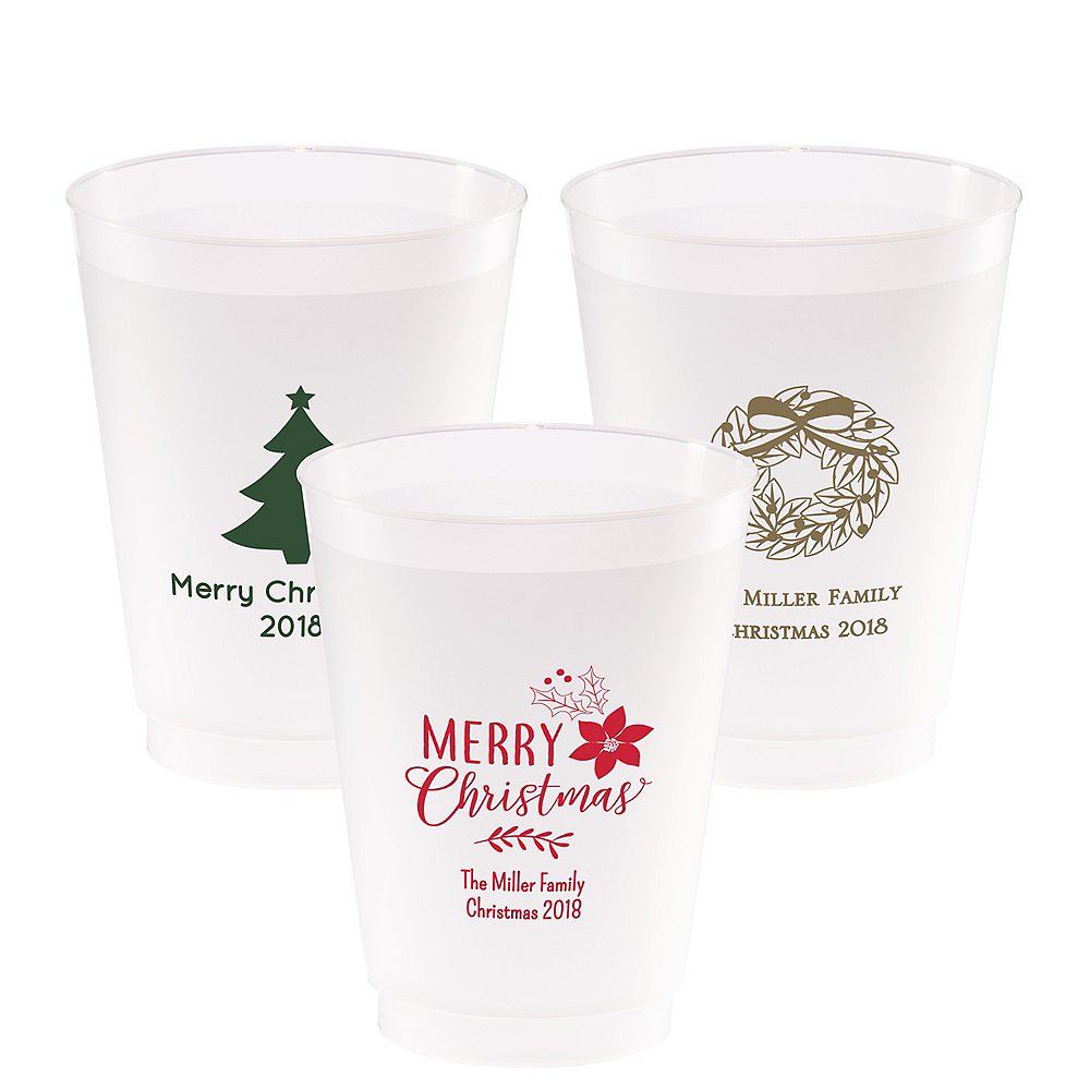 Personalized Christmas Frosted Plastic Shatterproof Cups 20oz Image #1