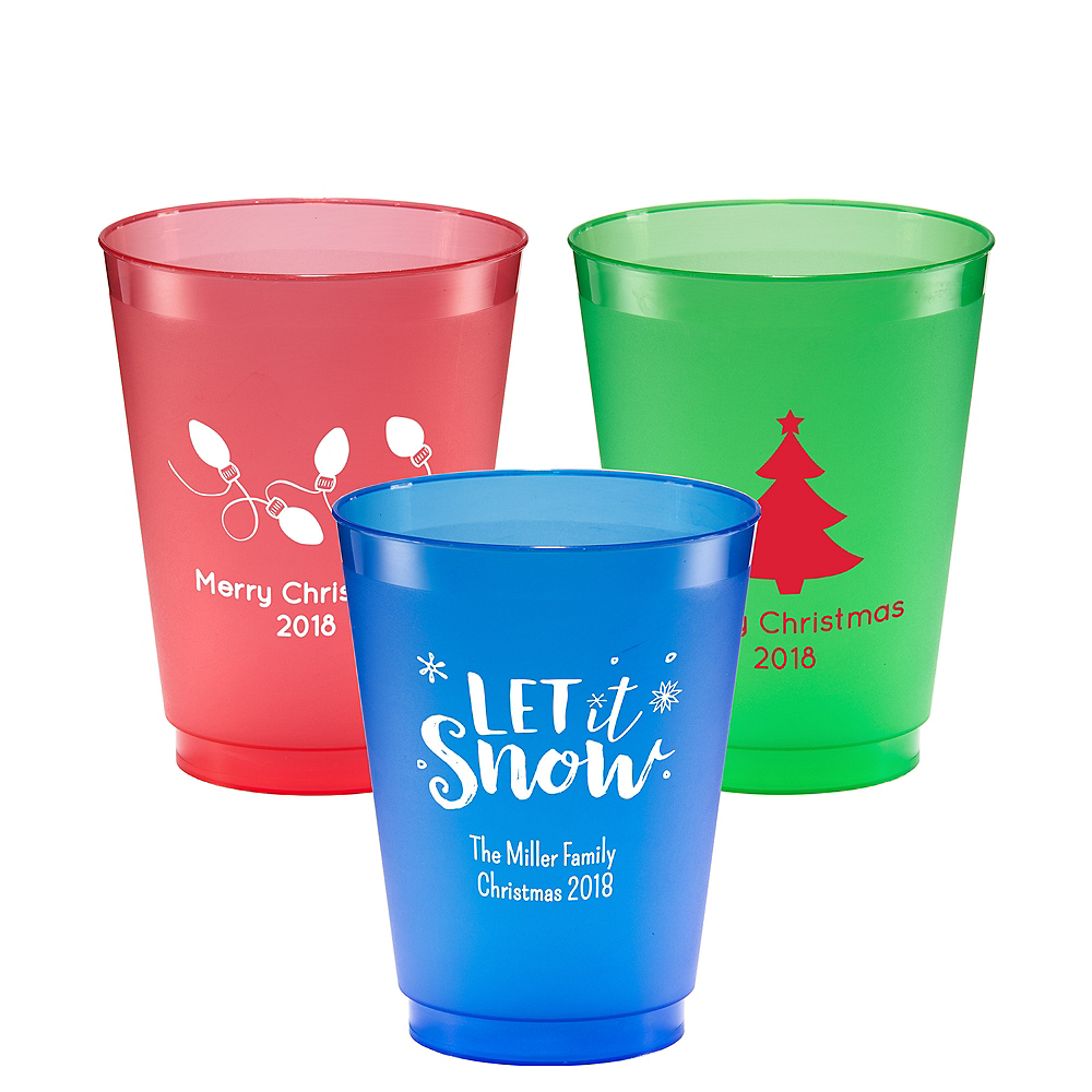 Personalized Christmas Plastic Shatterproof Cups 16oz Image #1