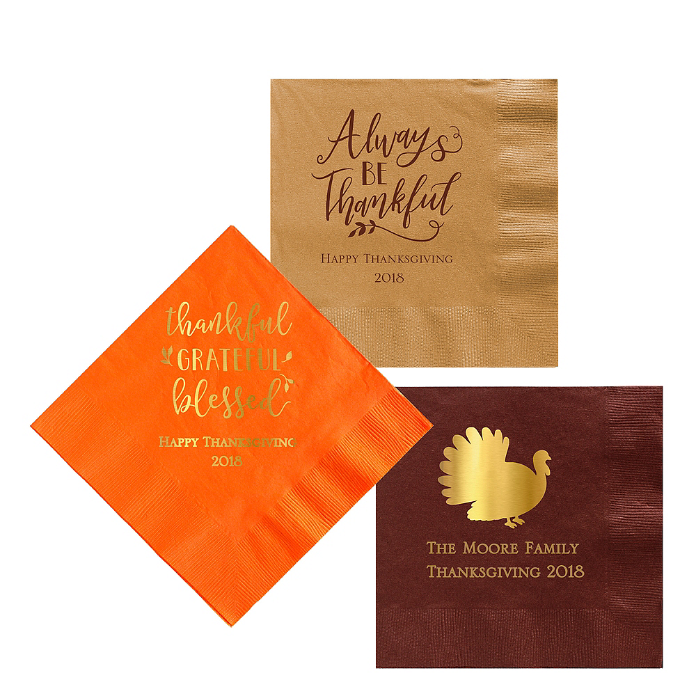 Personalized Thanksgiving Lunch Napkins Image #1