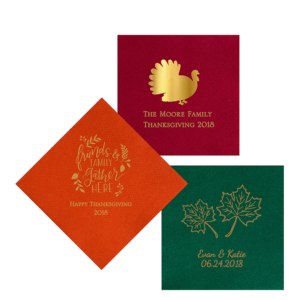 Personalized Thanksgiving Premium Lunch Napkins Image #1