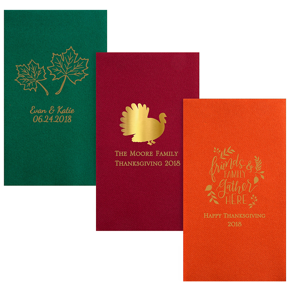 Personalized Thanksgiving Premium Guest Towels Image #1