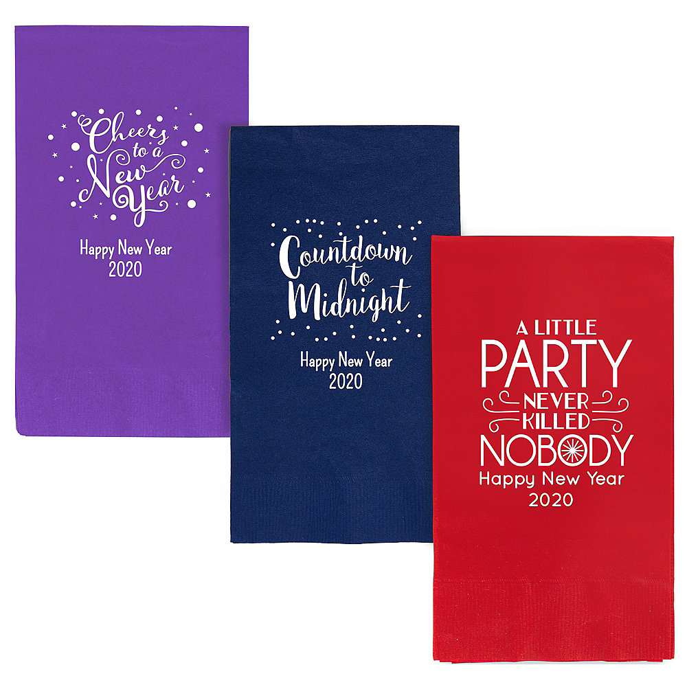 Personalized New Year's Guest Towels Image #1