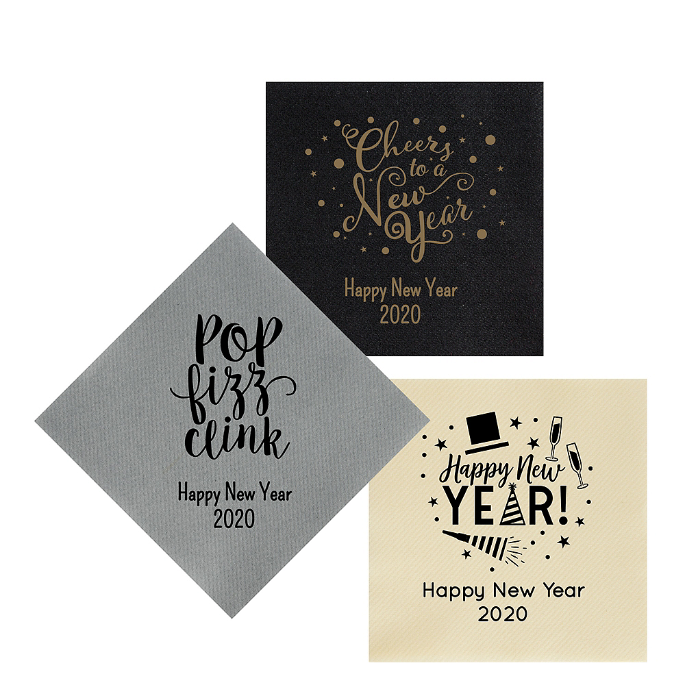 Personalized New Year's Premium Lunch Napkins Image #1