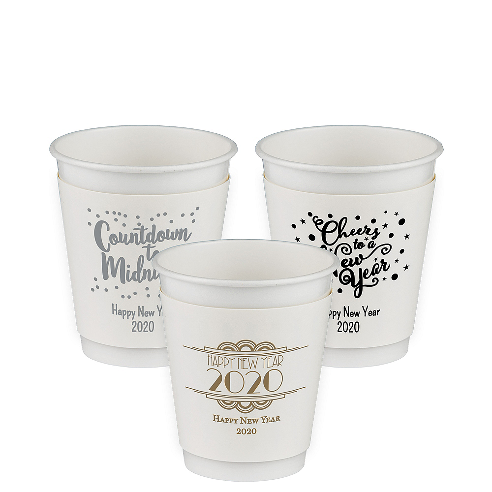 Personalized New Year's Insulated Paper Cups 12oz Image #1