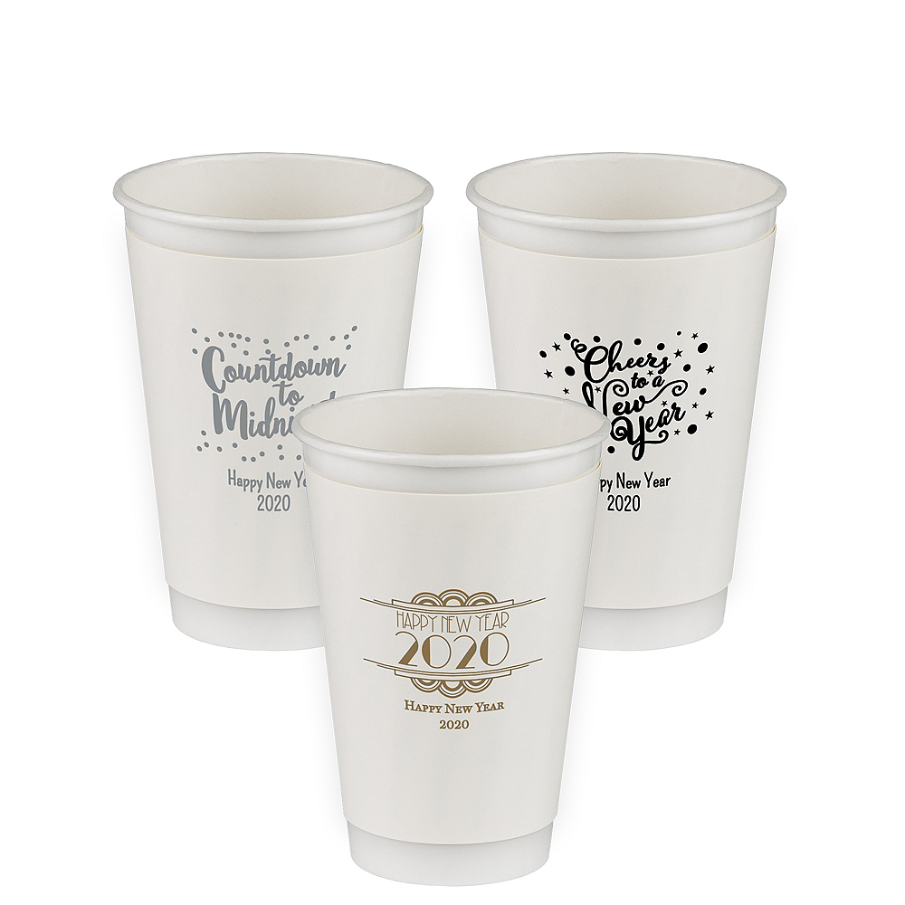 Personalized New Year's Insulated Paper Cups 16oz Image #1