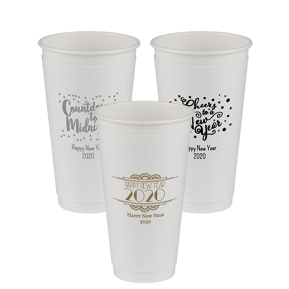 Personalized New Year's Insulated Paper Cups 20oz Image #1