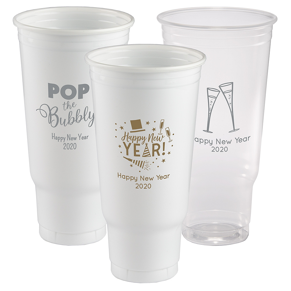 Personalized New Year's Plastic Party Cups 44oz Image #1