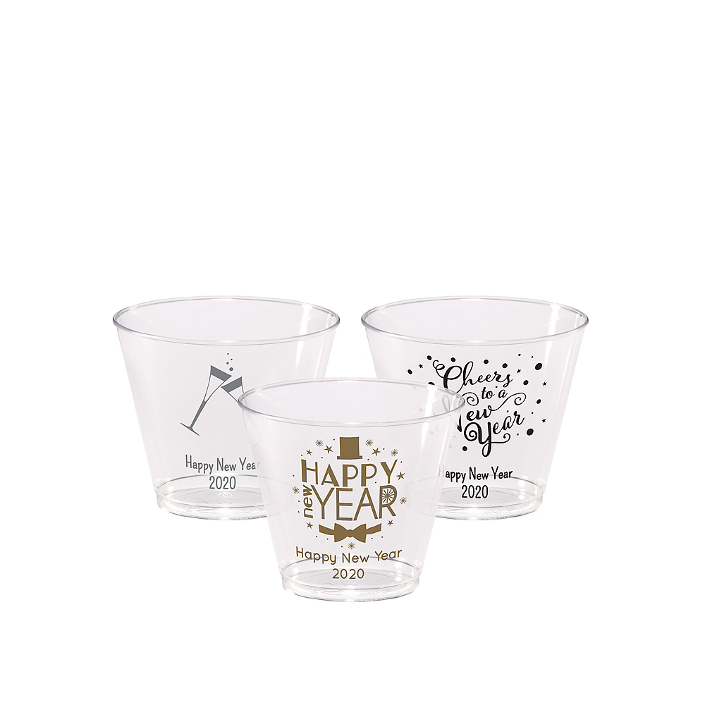 Nav Item for Personalized New Year's Hard Plastic Cups 5oz Image #1