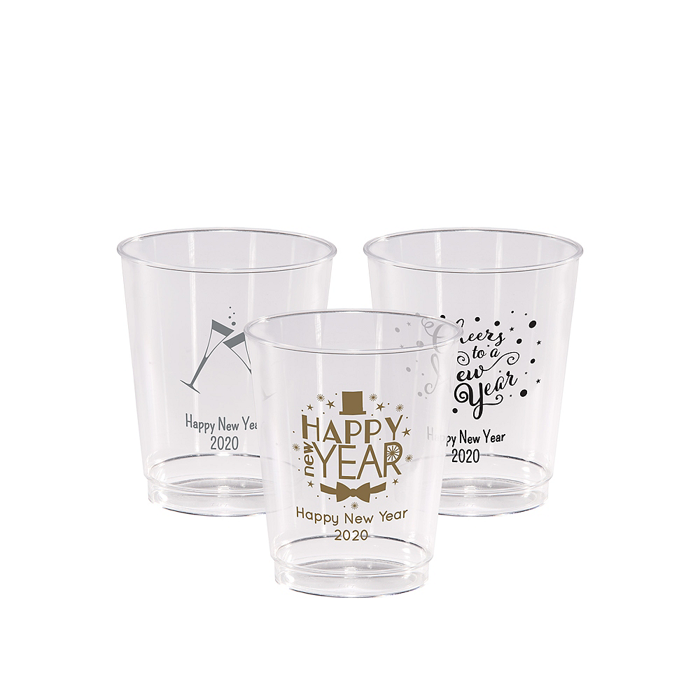 Personalized New Year's Hard Plastic Cups 8oz Image #1