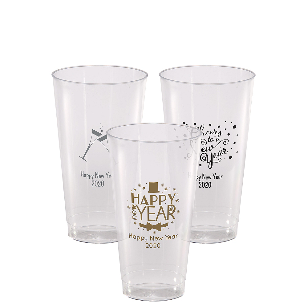 Personalized New Year's Hard Plastic Cups 16oz Image #1