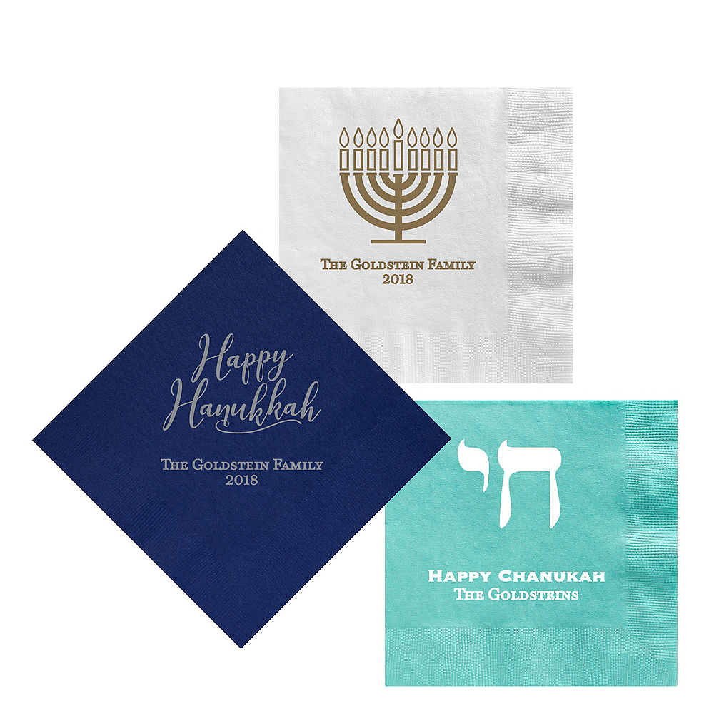 Personalized Hanukkah Lunch Napkins Image #1