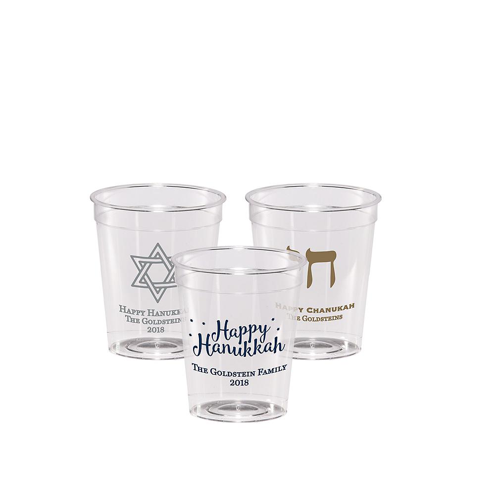 Personalized Hanukkah Hard Plastic Shot Glasses 2oz Image #1