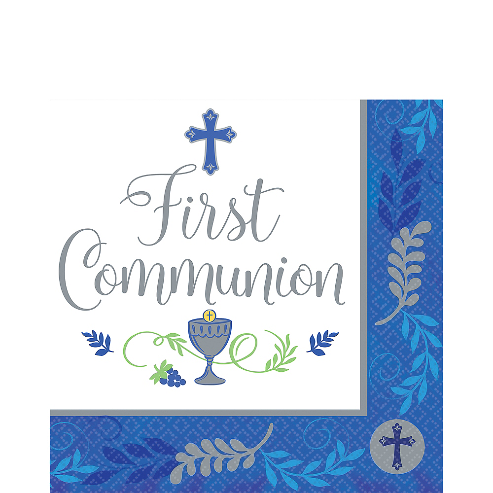 Boy's First Communion Lunch Napkins 36ct Image #1