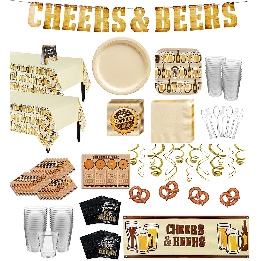 Cheers & Beers Premium Party Kit for 32 Guests Image #1