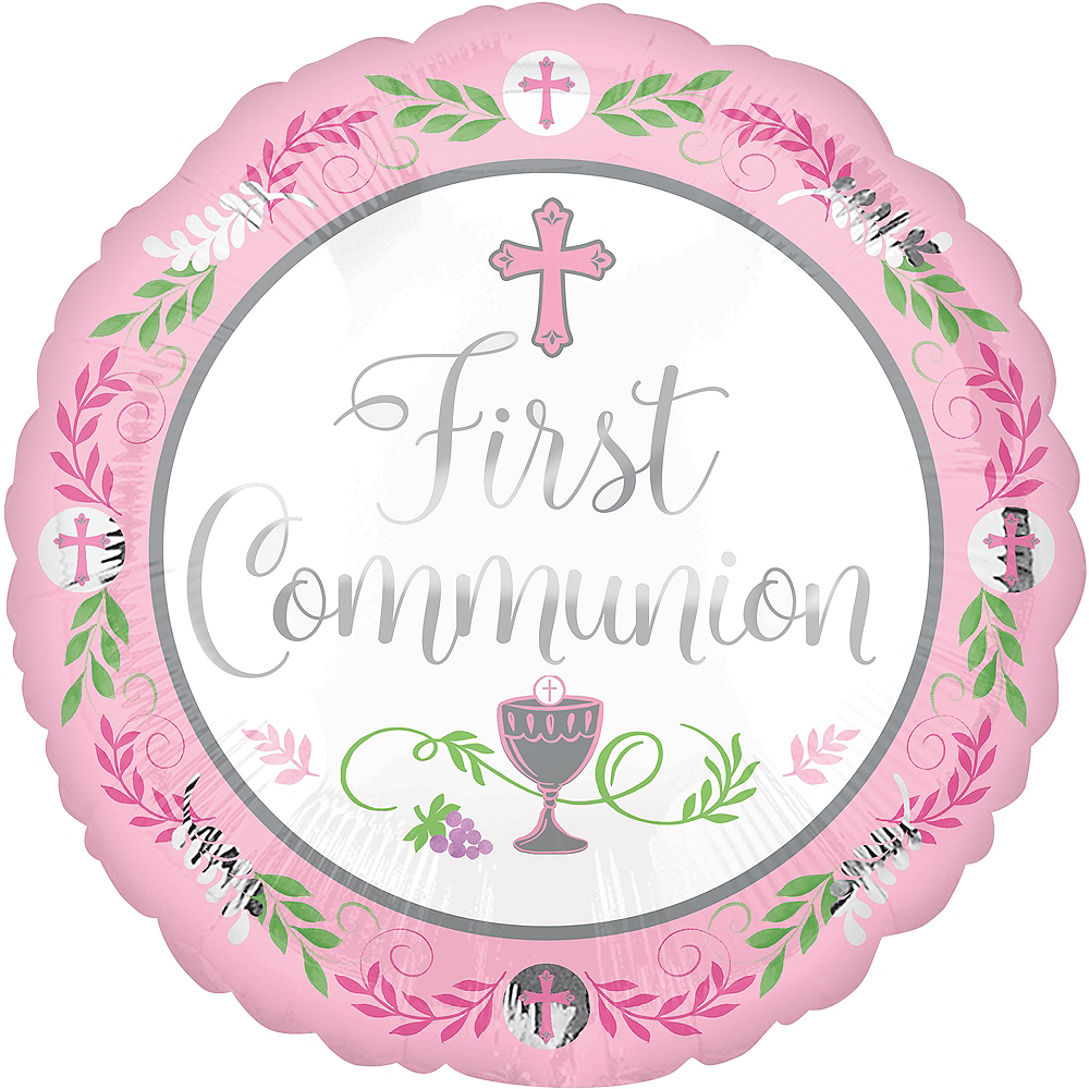 Girl's First Communion Balloon, 17in Image #1