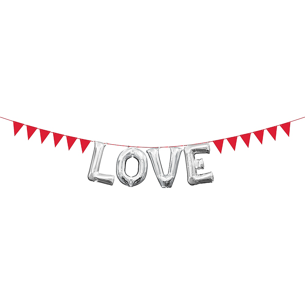 Mini Create Your Own Red Pennant Banner Image #2